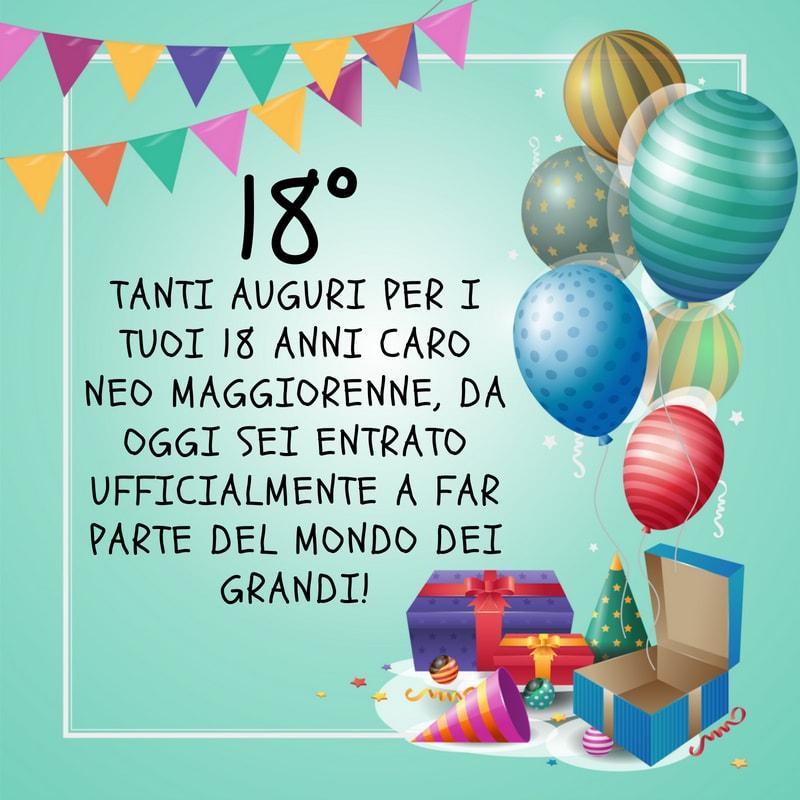Auguri Speciali Di Compleanno Per I 18 Anni