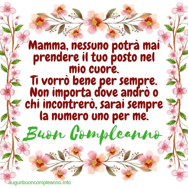 auguri di buon compleanno per la mamma