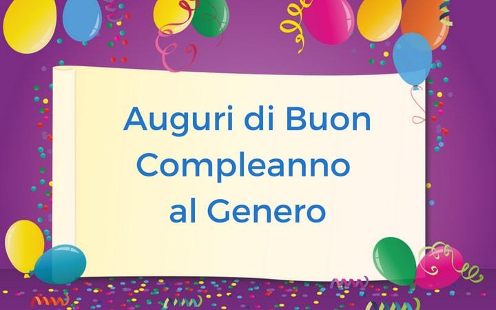 auguri di buon compleanno per genero