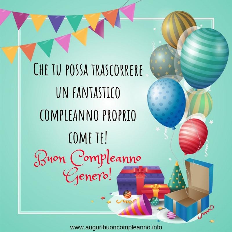 auguri di buon compleanno al genero