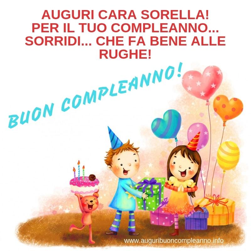 Auguri Di Buon Compleanno Alla Sorella Auguri Buon Compleanno